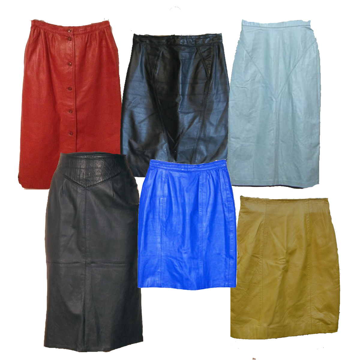 Vintage Leather Skirts