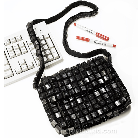 Recycled Purse Made From a Keyboard