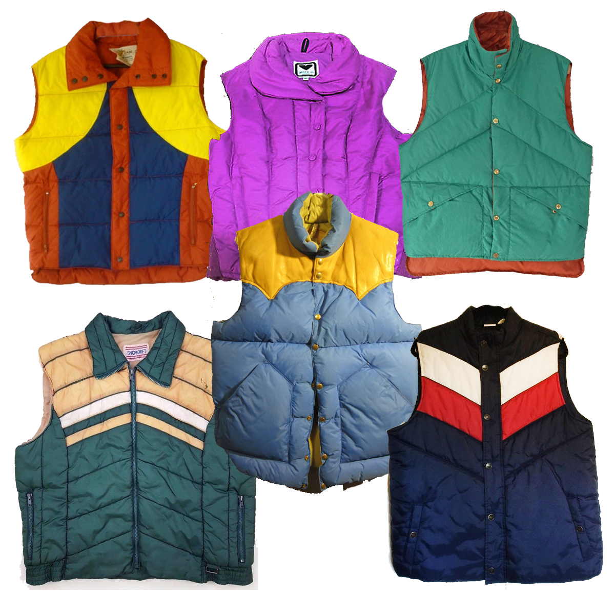 80's Puffy Ski Vests