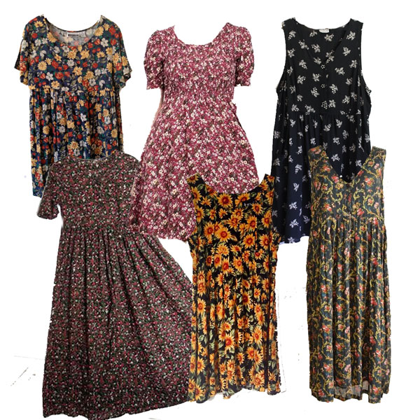 Vintage Floral Dresses Wholesale