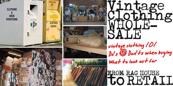 Vintage Clothing Wholesale 101 - Where the Clothing Come From
