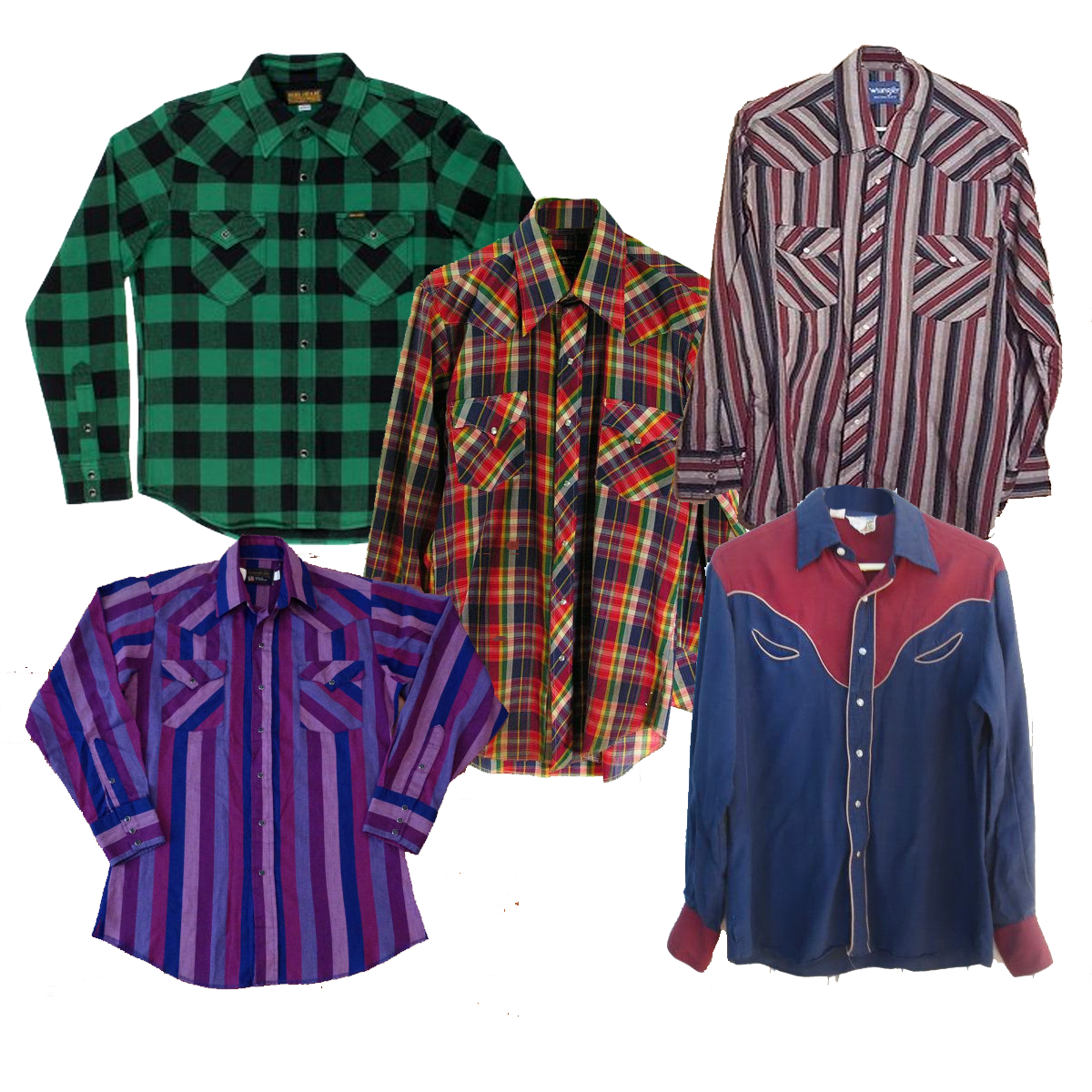 Wholesale Vintage Western Peral Snap Shirts Dust Factory
