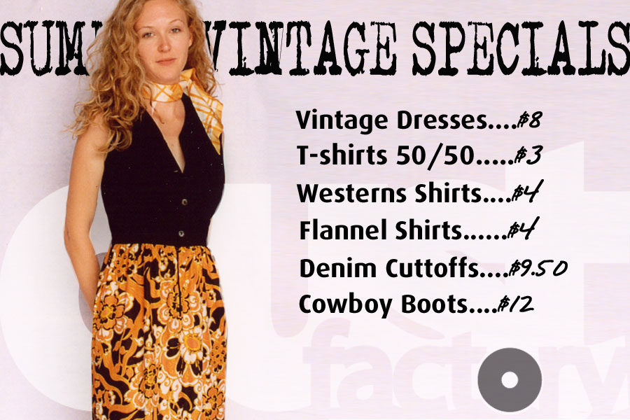 Dust Factory Vintage Clothing Wholesale Summer Specials
