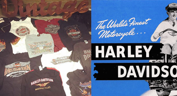 Vintage Harley Davidson T Shirts On Sale For 8 A Piece Dust