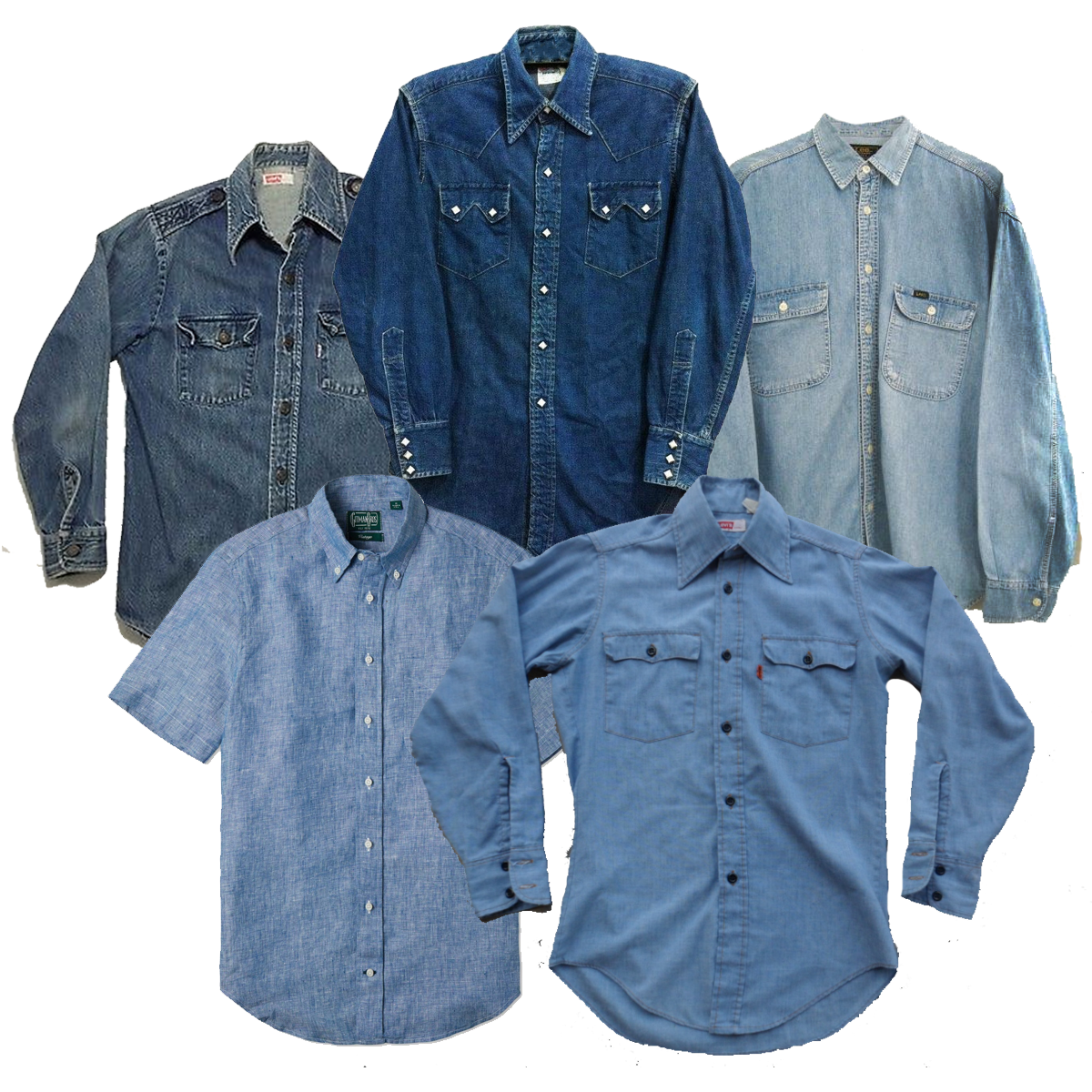 Vintage Wholesale Denim Chambray Shirts