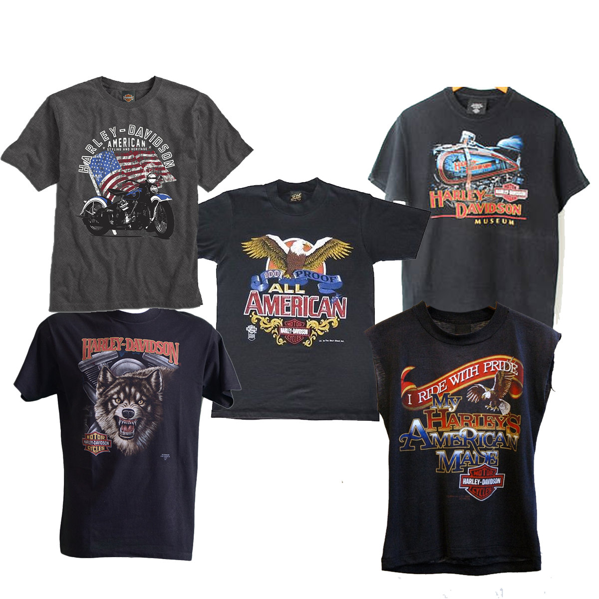 vintage harley davidson t shirts dust factory vintage. Black Bedroom Furniture Sets. Home Design Ideas
