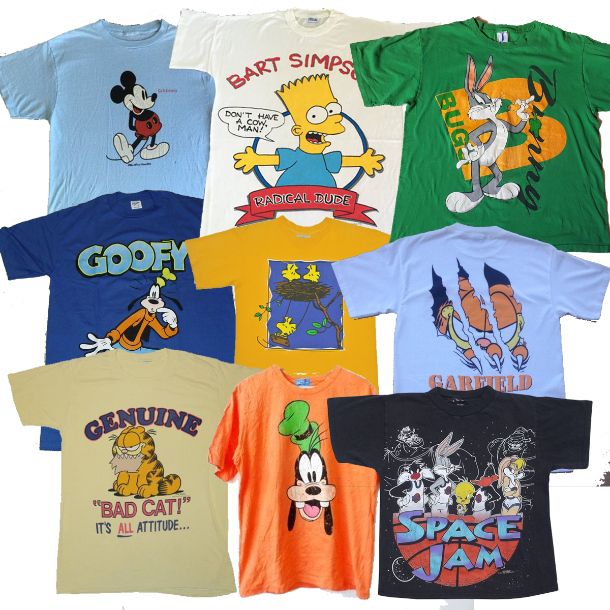 Vintage Cartoon Mix T-shirt