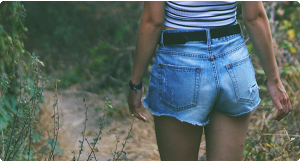 Vintage denim shorts for sale